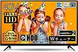 山善 40V型 1TB ハードディスク内蔵 録画テレビ (Fire TV シリーズ操作 PCモニター映像モード 裏番組録画 対応) QRC-40W2KHDD