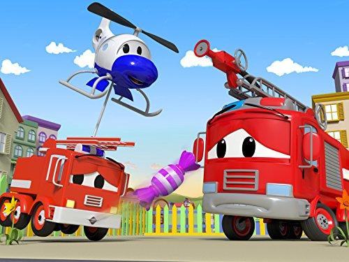 キャンディー喉に詰まる & クレーンが行方不明 - 消防車とパトカーのカーパトロール