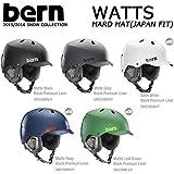 15-16 bern バーン ヘルメット WATTS HARD HAT ワッツ ジャパンフィット ウインターモデル 正規品 (MatteBlack, US_M(JPN_XS))