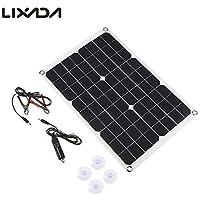 LIXADA ソーラーチャージャー ソーラーパネル ソーラー充電器20W キャンピングカーなど充電に最適IP65防水 USBポート 超薄 高効率 アウトドア キャンプ ハイキング フィッシングクライミングなど用