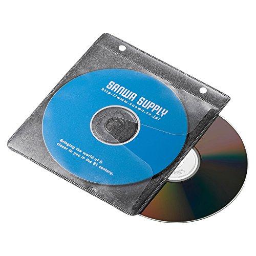 ブルーレイディスク対応不織布ケース リング穴付き・50枚り・ブラック FCD-FRBD50BK 1セット 50枚り