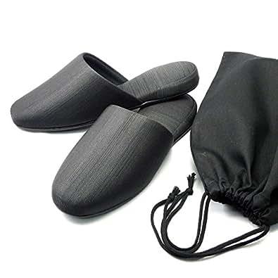 Fit-land (フィットランド) グログラン フォーマルスリッパ(男性用)巾着型ポーチセット