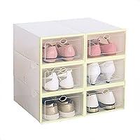 ZHIQIANG シックニング防湿フリップシューボックス透明家庭用引き出しシンプルな靴収納ボックス収納ボックス収納装飾収納ボックス男性と女性のプラスチックの組み合わせ ( 色 : ピンク ぴんく )