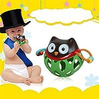 エレガント 魅力的 ベビー ハンドベル Appease Toy Hand Catch Ball Toy ソフトラバー ボール 歯 ジェル ハンドラトル PTO_00DK0TGV