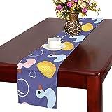 GGSXD テーブルランナー 面白い アヒル クロス 食卓カバー 麻綿製 欧米 おしゃれ 16 Inch X 72 Inch (40cm X 182cm) キッチン ダイニング ホーム デコレーション モダン リビング 洗える