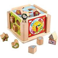 赤ちゃんおもちゃ多機能Hexahedral Around theカラービーズギャラリー木製玩具幼児早期学習教育ギフトfor Toddlers
