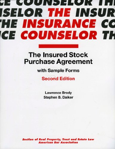 Download The Insured Stock Purchase Agreement with Sample Form (Insurance Counselor) 1590318757