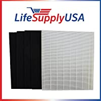 Replacement HEPA Filter set for Winix Size 25 113250 113200 P450 by LifeSupplyUSA [並行輸入品]