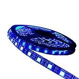ALITOVE LEDイルミネーション LEDテープ 防水5m 300連SMD5050 青 ブルーIP65 黒ベース 正面発光DC 12V