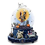 Disney The Nightmare BeforeクリスマスMusical Glitter Globe with Rotating Base by The Bradford Exchange