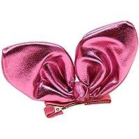 funbase幼児用ベビー女の子子供用Infant Bunny Ear Bow Hairpin Headwearパックof 2