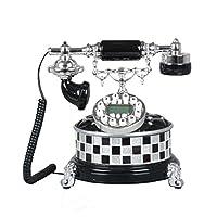 ZYN 電話ヨーロッパスタイルの固定電話電話ホーム固定レトロクリエイティブヴィンテージアンティーク電話 NYZ (色 : Black, サイズ さいず : L25CM*H26CM)