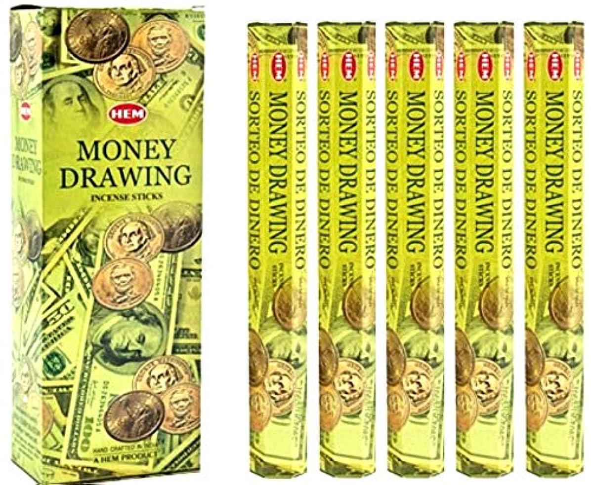 切断する学校教育女優裾Money Drawing 100 Incense Sticks (5 x 20スティックパック)