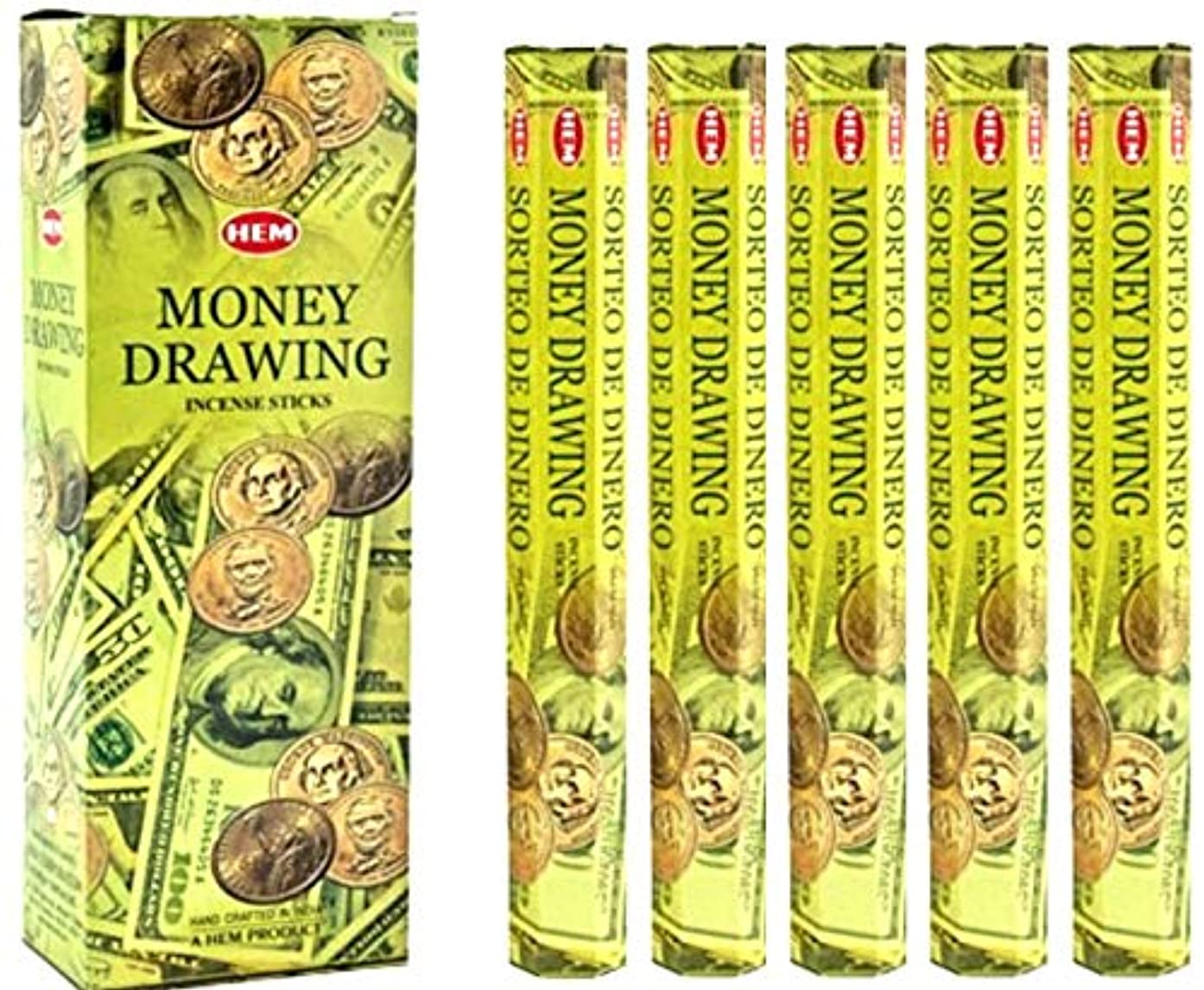 はがき申し立てられた賞賛裾Money Drawing 100 Incense Sticks (5 x 20スティックパック)