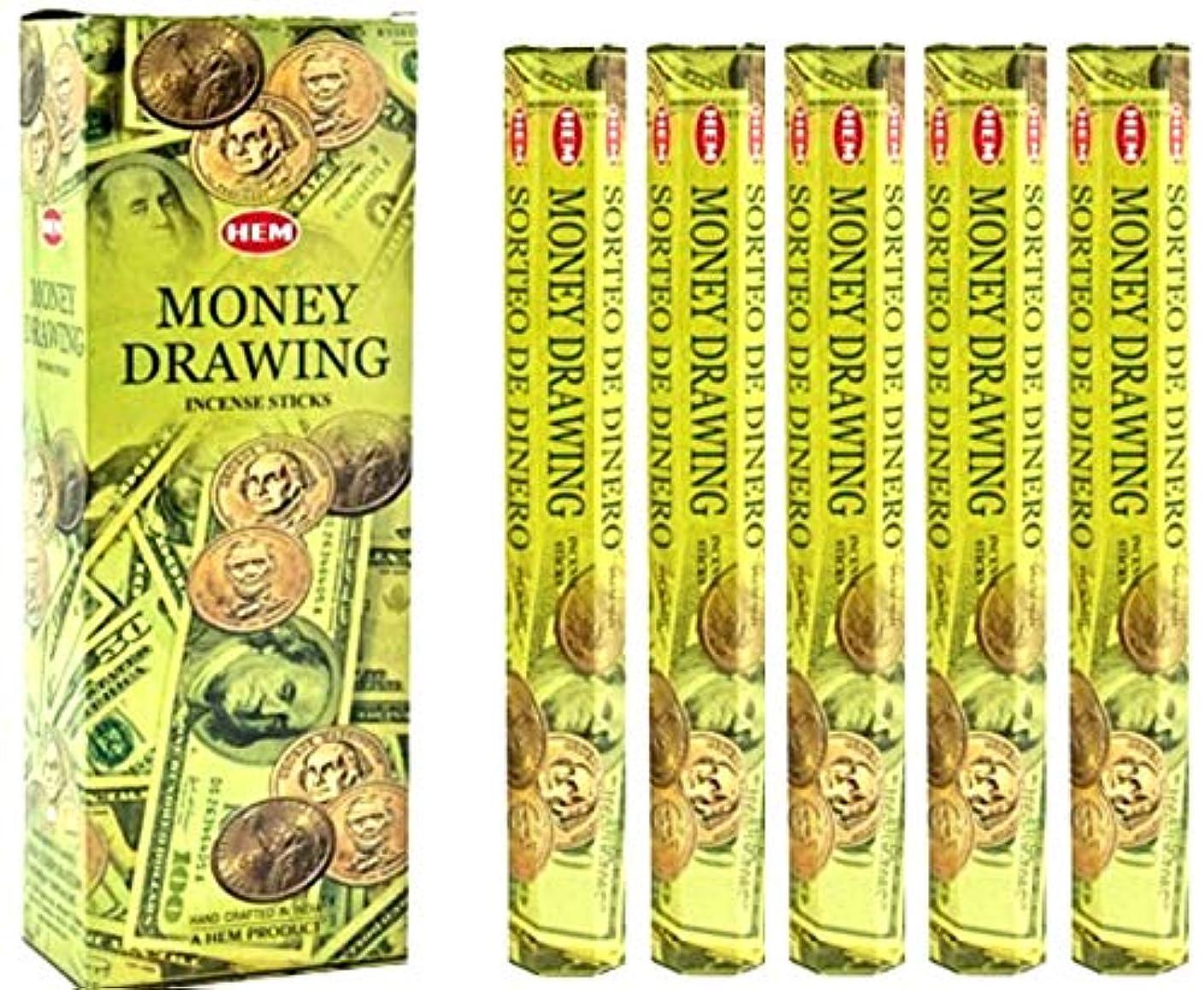 降伏テープ暴行裾Money Drawing 100 Incense Sticks (5 x 20スティックパック)