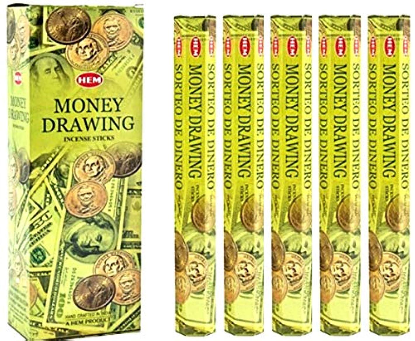 しばしば約束する罰裾Money Drawing 100 Incense Sticks (5 x 20スティックパック)