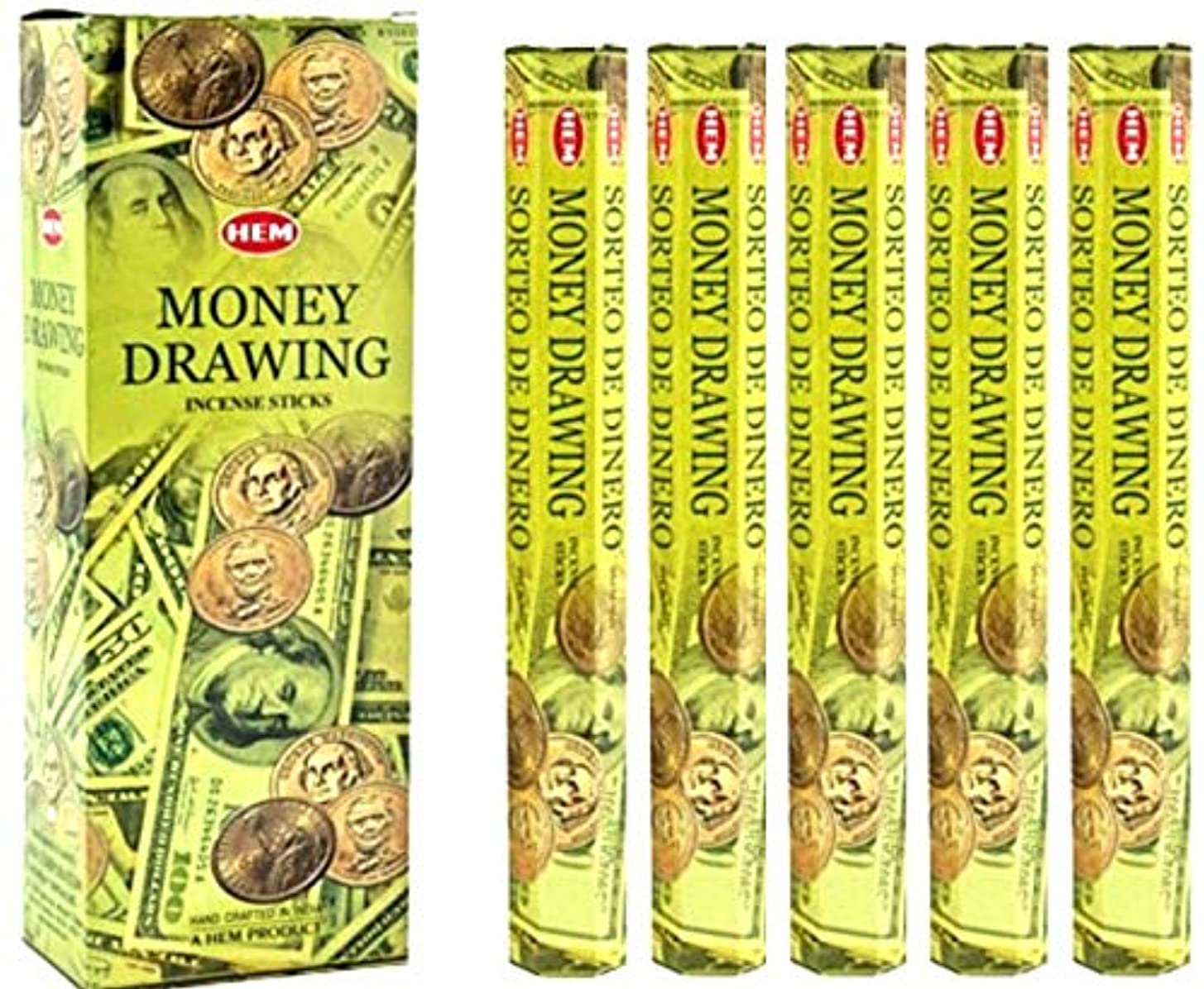温度計顧問びっくりした裾Money Drawing 100 Incense Sticks (5 x 20スティックパック)