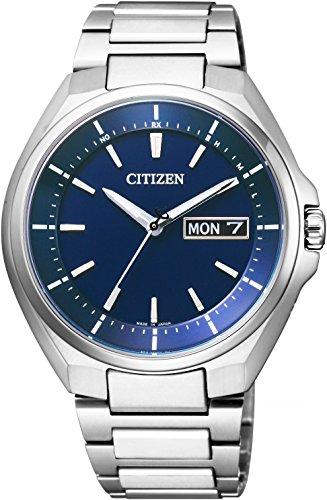 [シチズン]CITIZEN ATTESA アテッサ エコ・ドライブ電波時計 デイデイト表示 AT6050-54L メンズ