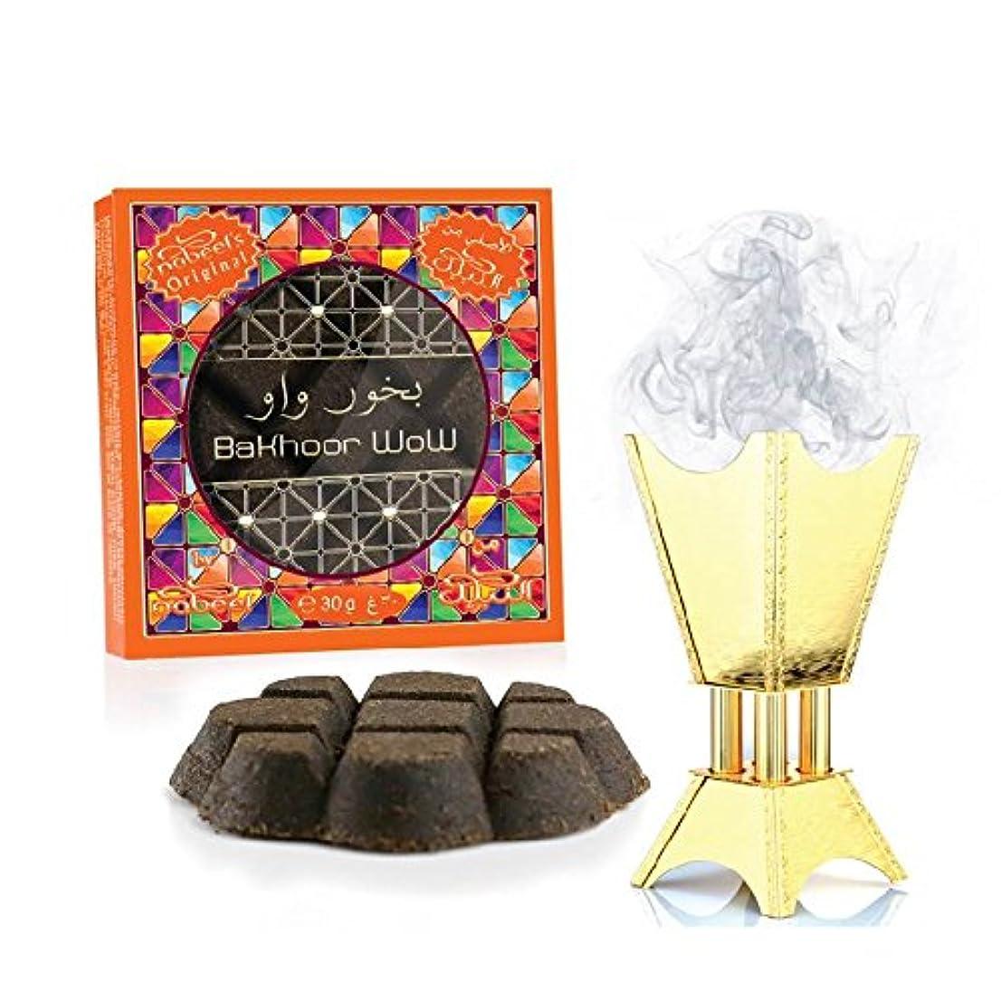 雪矢じり分数Bakhoor Wow Incense (ボックスof 12 x 30 gm ) by Nabeel