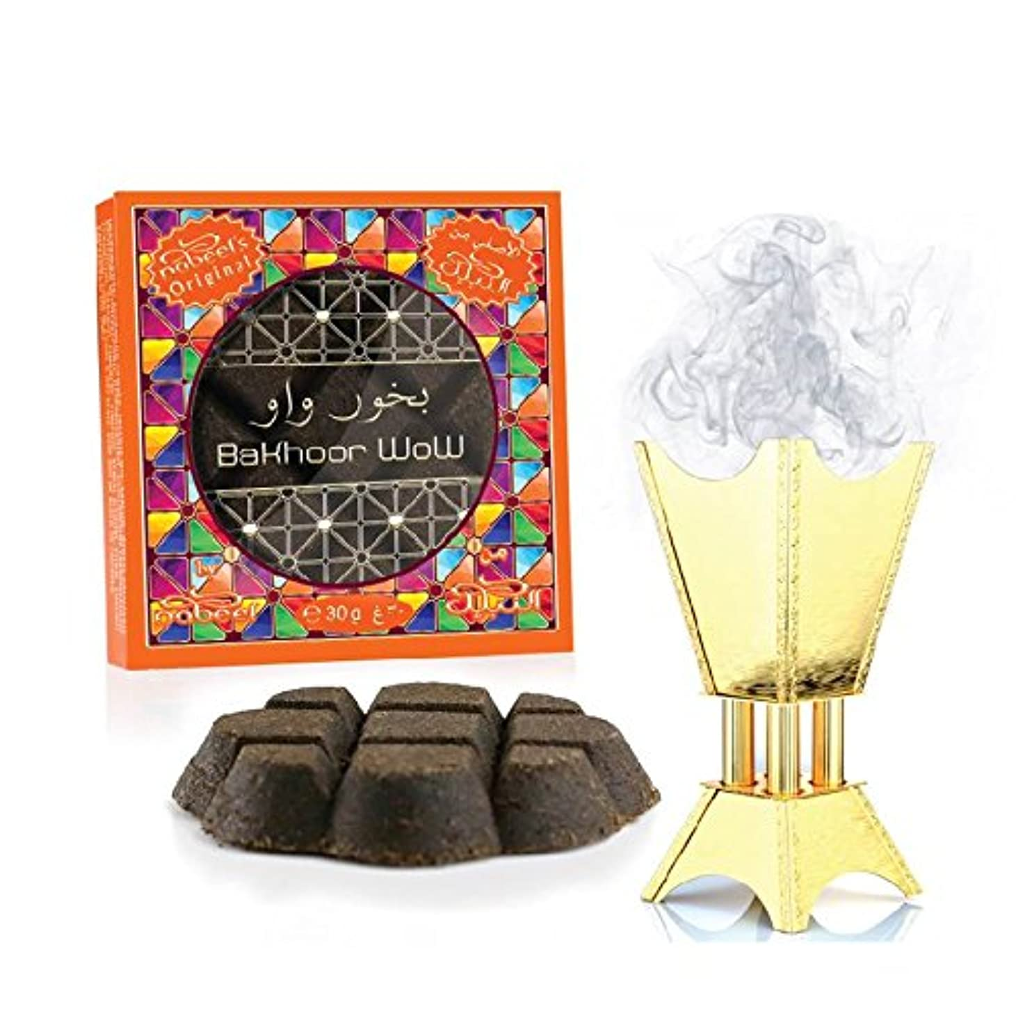 Bakhoor Wow Incense (ボックスof 12 x 30 gm ) by Nabeel