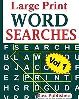 Large Print Word Searches (Large Print Word Searches Vol 1)