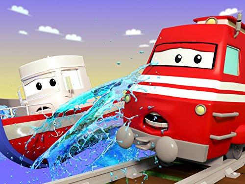 ハーベスターのハービーが草刈り!/救急車のアンバーがブルドーザーのビリーの治療!/飛行機のペニーがバスのリリーを湖から救出!/