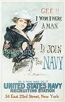 海軍第一次世界大戦米軍プロパガンダポスター24x36平行輸入