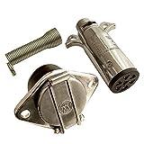 トレーラー ソケット 接合カプラー セット 7ピン 電極配線 牽引 (7極 7芯)
