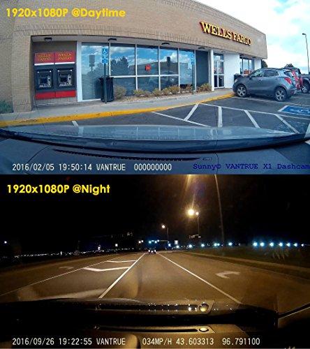 ドライブレコーダー VANTRUE X1 ドラレコ 1080P フル HD 1200万画素 駐車監視 ドライブ レコーダー HDR 2.7インチLCD 170度広視野角 常時録画 動体検知 G-センサー 駐車モード 暗視機能搭載