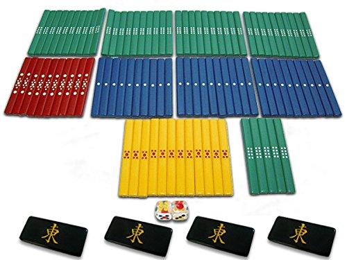 [해외]마작 용품 컬러 점봉 풀 세트 + 찌챠마쿠 블랙 4 장 + 투명 주사위 2 개 세트/Mahjong Supplies Color Point Bar Full Set + 4 Chiucha Mark Black 4 + Transparent Dice 2 Set