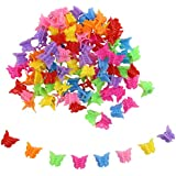 CCINEE Hair Clips Claw Butterfly Style Barrettes Assorted Color Mini Jaw Clip Hair Accessories for Women and Girls-100