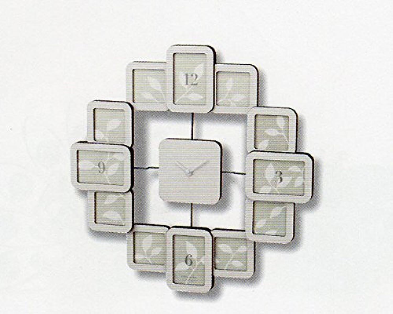 クロックフレーム ホワイト  写真立て 壁掛け 時計