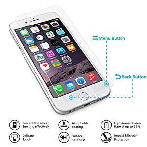 iPhone 6s スマート強化ガラス 透明電極 スマートタッチ(戻るボタン機能) 国産ガラス採用 3D touch (感圧タッチ) 対応 ラウンドエッジ加工 VEROMAN