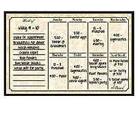 Dry Erase Weekly Calendarマグネット One Size 30006