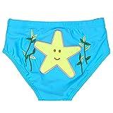 赤ちゃんの水泳トランク漫画再利用可能な水泳おむつ、青 L