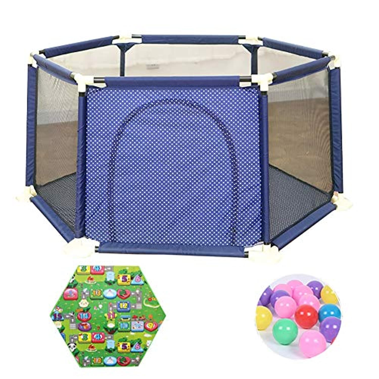 ベビーサークル 赤ちゃんの遊び場屋内の子供の遊び場遊び場の遊び場の子供の安全のフェンスの遊び場 (色 : Style-4, サイズ さいず : 180x65.5cm)