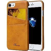 iPhone7ケース カード収納 2枚入れ iPhone 8 ケース レザー 軽量 Rssviss(iPhone7 / iPhone8に対応)レトロブラウン【 4.7 インチ】
