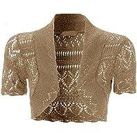Momo&Ayat Fashions Ladies Crochet Shrug Knitted Bolero Top Women Cardigan AUS 8-14