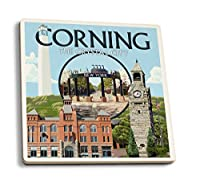 Corning , New York–Townモンタージュ 4 Coaster Set LANT-33549-CT