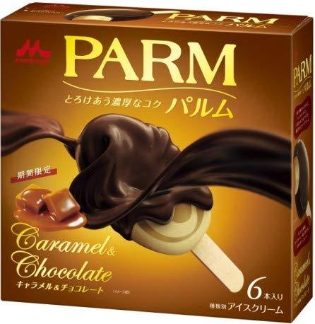 【アイスクリーム】森永乳業 PARM(パルム) キャラメル&チョコレート (55mlX6本)X6箱