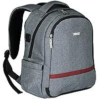 SONONIA 15L 軽量 大容量 おむつ替え ベビー マザーズ おむつ バッグ ママ バックパック + 交換用マット + ティッシュボックス 全3色 - グレー