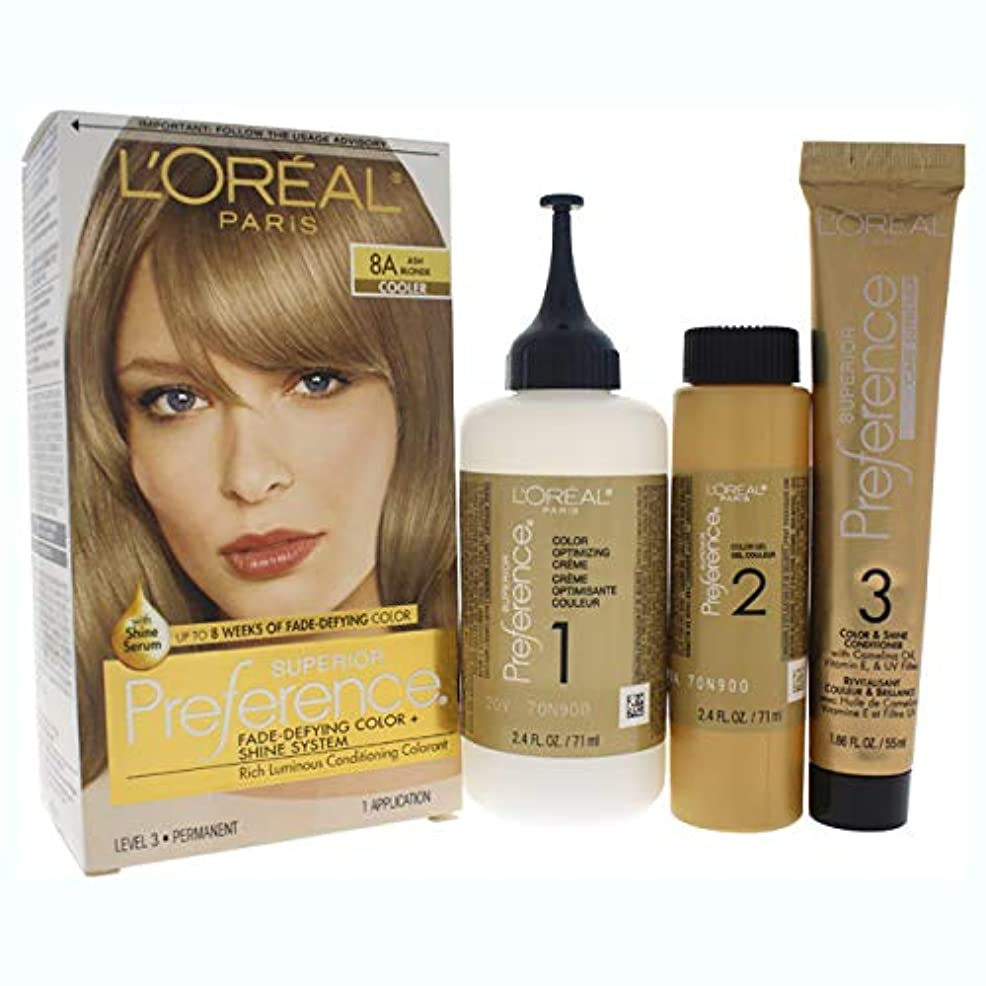ドナー聡明単調なL'Oreal Paris 県Haircol 8Aサイズ1CTロレアルプリファレンスヘアカラーアッシュブロンド#8(a)