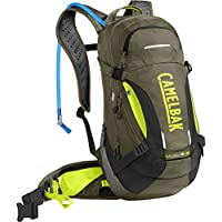 CamelBak M.U.L.E. Low Rider Protector 15 Bike 3L Backpacks, Burnt Olive/Lime Punch, One Size