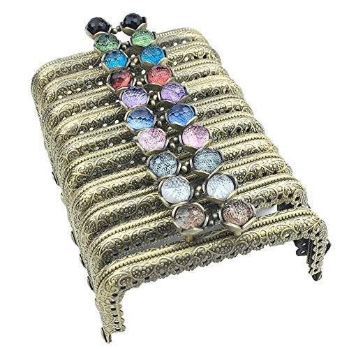 がま口 財布用 アンティーく風 口金 角型 手芸用品 可愛い飴玉 ブロンズカラー 10.5cm 10セット