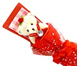 Cosjob くまブーケ (A841) 赤 水色 ピンク 茶色 紫 くま束 ブーケ 花束 一輪 風 ギフト 贈り物 プレゼント バレンタインデー ホワイト..