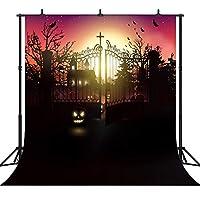 GooEoo ハロウィーンテーマカボチャランタンカスタマイズされたシームレスなビニール写真の背景写真の背景スタジオプロップPGT203A