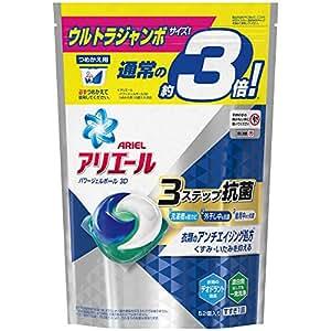 洗濯洗剤 ジェルボール3D 抗菌 アリエール 詰め替え 52個(約3倍)