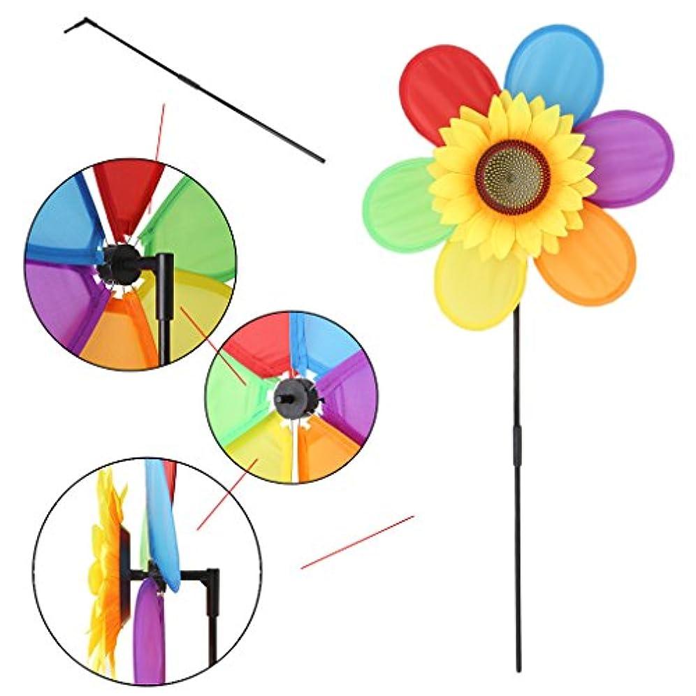 葉巻拍手するきらめきマスタリー風車子供のおもちゃひまわり芝生庭の装飾カラフルな屋外スピナー