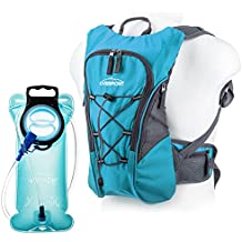 Overmont hiking backpack for containing a hydrating bladder 2.5 liters backpack cyclist(total capacity 10 L)for outdoor sports long voyage climbing in open air with 2L TPU Hydration Bladder