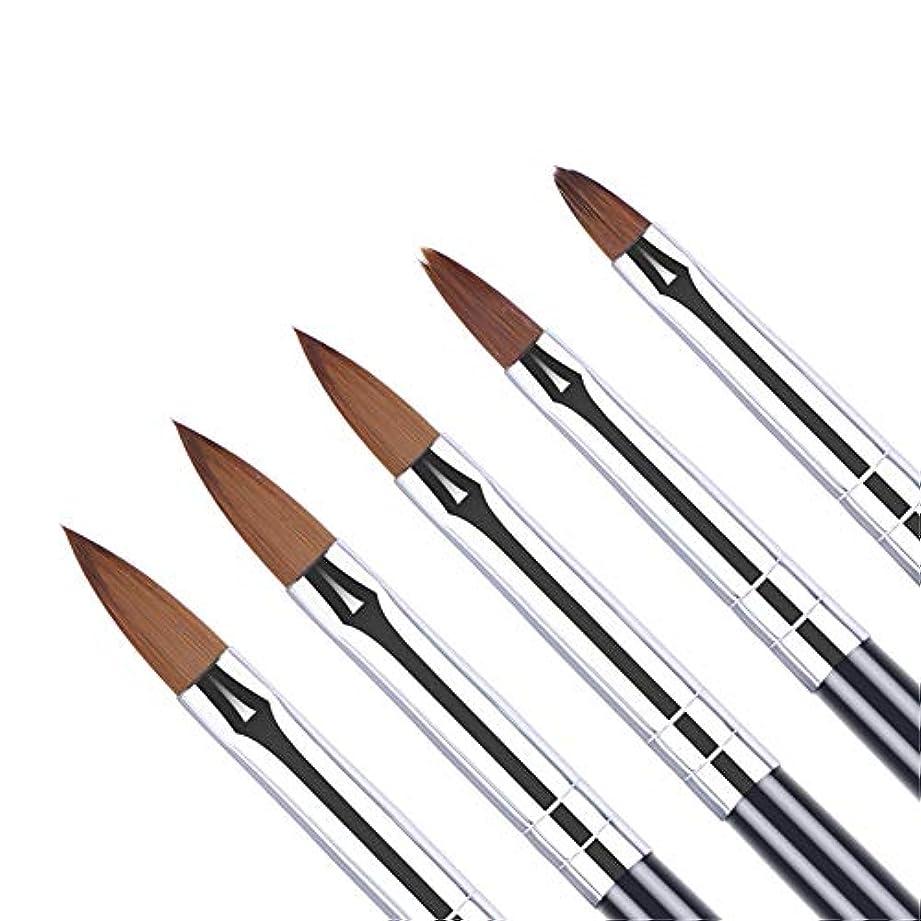 鳥クーポンシルエットUR SUGAR アクリルネイルセット 5本セット ネイルアートブラシ ネイル筆 スカルプ用ブラシ セットアクリル 3D ネイル オーバル筆 [並行輸入品]